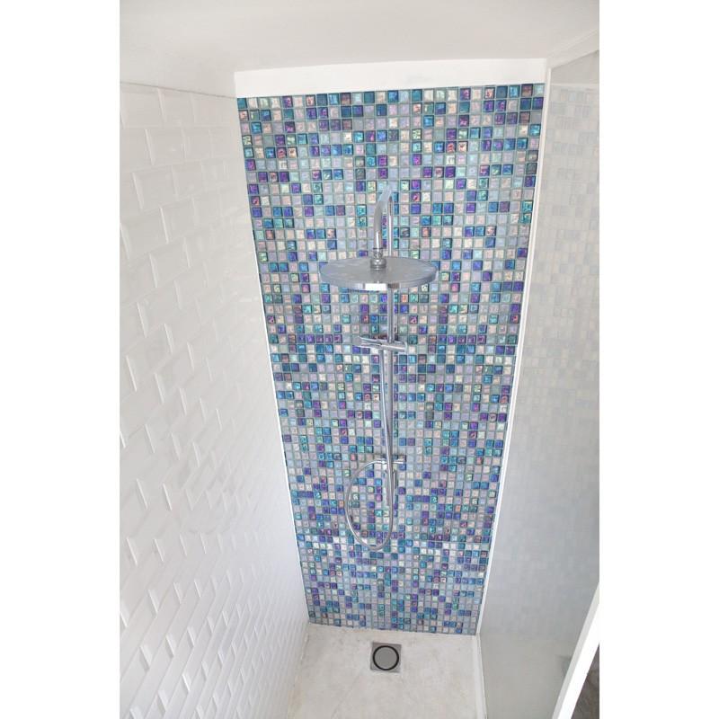 Crédence Salle de bain - Mosaïque marocaine bleue - Sur-mesure