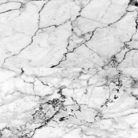 Marble effect white - sur mesure