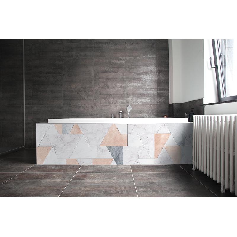 crédence baignoire marbre pastel
